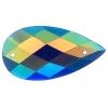 Opal Bright Sew-on Stone 10pcs Drop 16x30mm Royal Blue Aurora Borealis